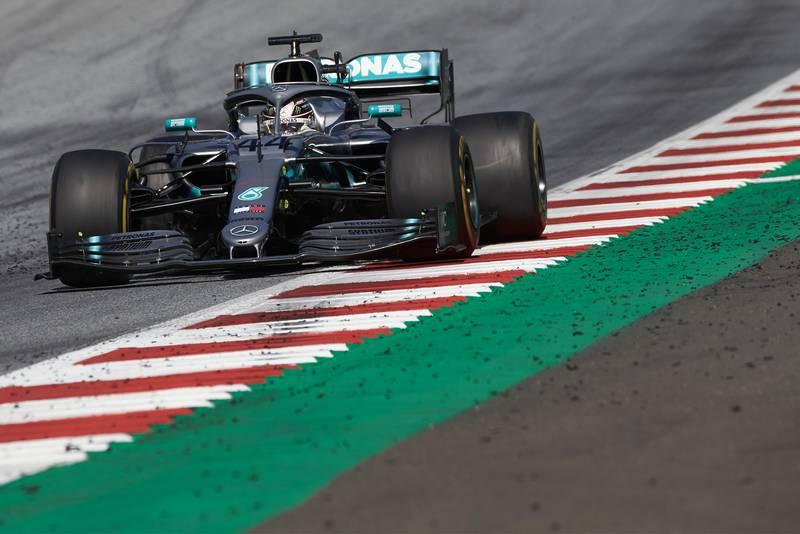 Lewis Hamilton during the 2019 Austrian Grand Prix