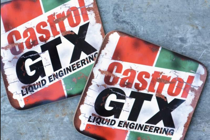 Castrol GTX coasters