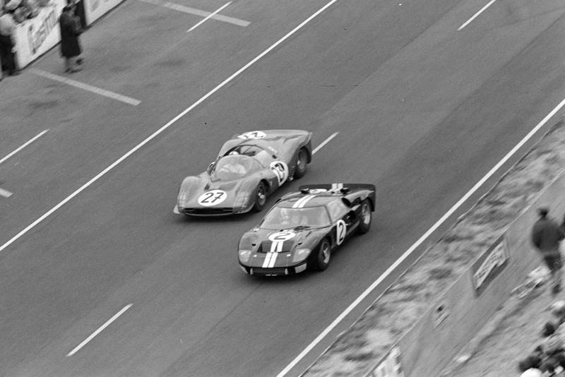 Bruce McLaren and Chris Amon's Ford GT40 Mk II