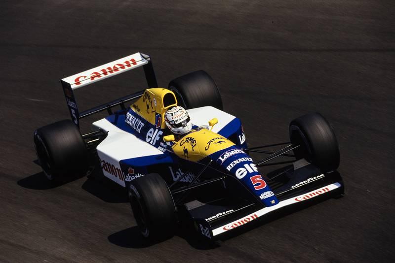Nigel Mansell in the 1992 Williams FW14B