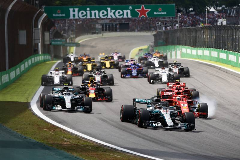 The start of the 2018 Brazilian Grand Prix