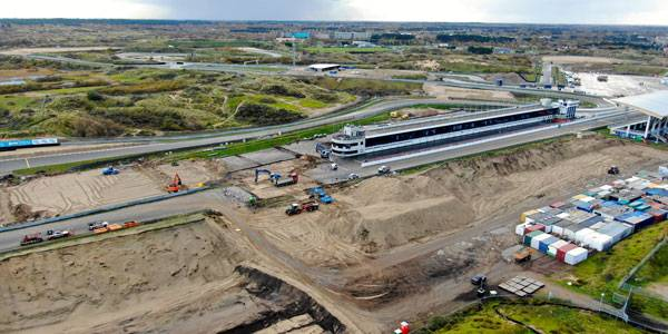Banked corners under construction at Zandvoort ahead of 2020 Dutch GP