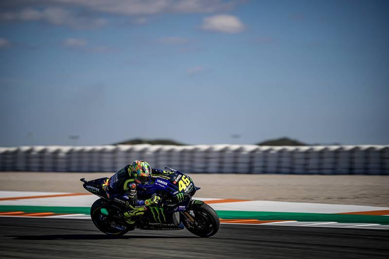 Rossi testing in Valencia