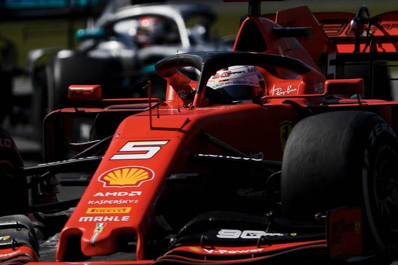 Lewis Hamilton stalks Sebastian Vettel during the 2019 Canadian Grand Prix