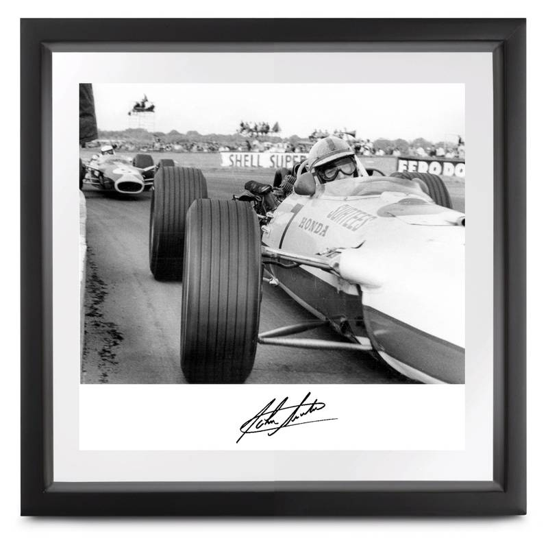 Product image for Honda RA273 at Copse Corner, signed by John Surtees