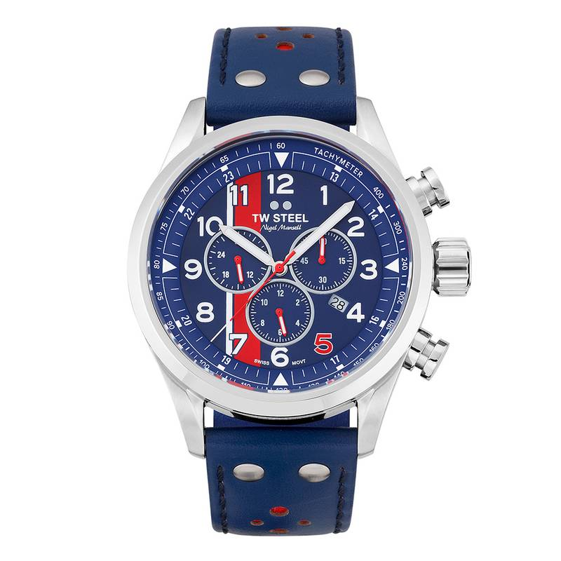 Product image for TW Steel | Nigel Mansell Red 5 Chronograph | Limited Edition Watch