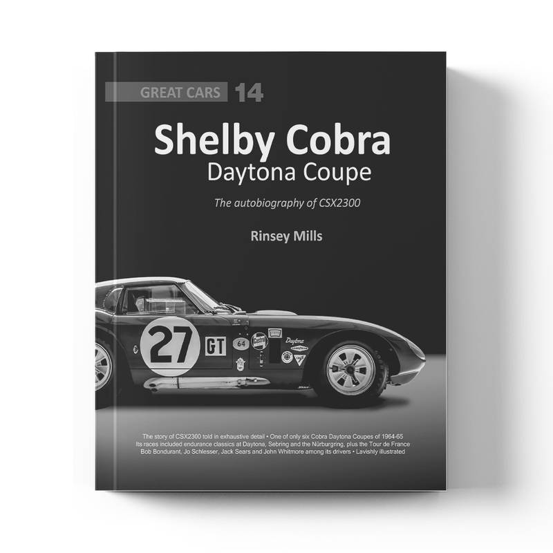 Product image for Shelby Cobra Daytona Coupe: The autobiography of CSX2300   Rinsey Mills   Book   Hardback