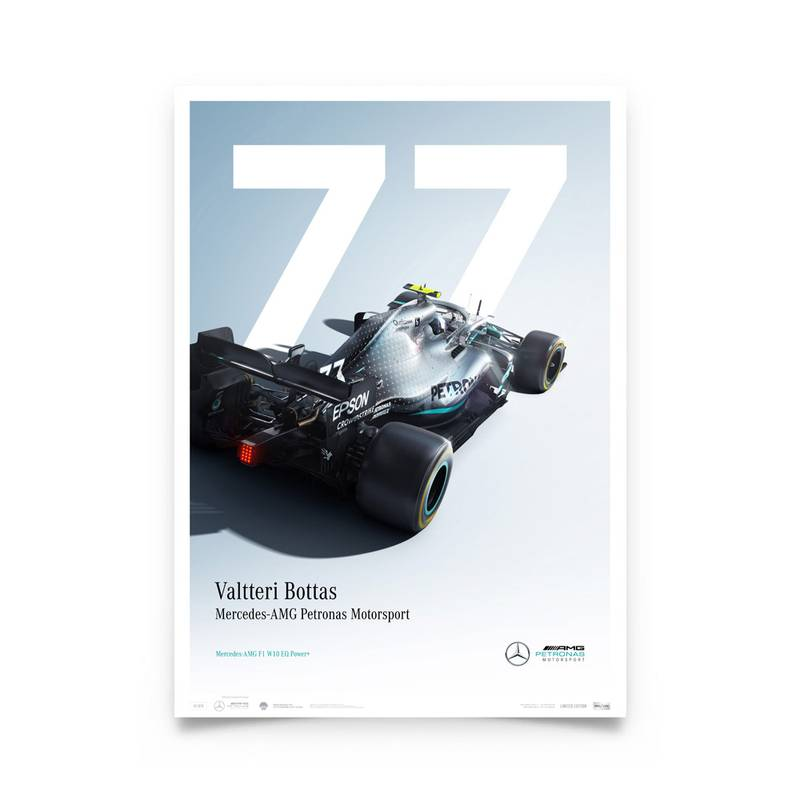 Product image for Valtteri Bottas - Mercedes W10 - 2019 | Automobilist | Limited Edition poster
