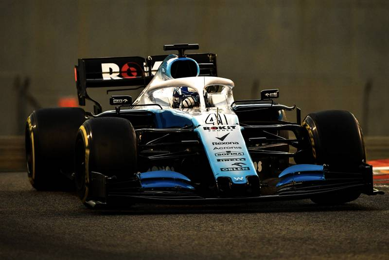 Roy Nissany testing for Williams in the 2019 post-season session in Abu Dhabi