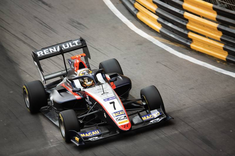 Max Fewtrell, Hitech, in the 2019 Macau Grand prix