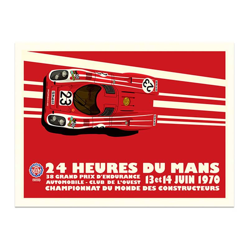 Product image for Salzburg Porsche 917K - Le Mans - 1970 | Studio Bilbey | Limited Edition print
