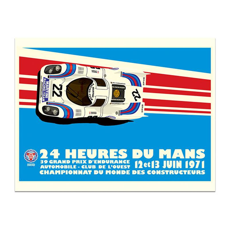 Product image for Martini Porsche 917K - Le Mans - 1971| Studio Bilbey | Limited Edition print