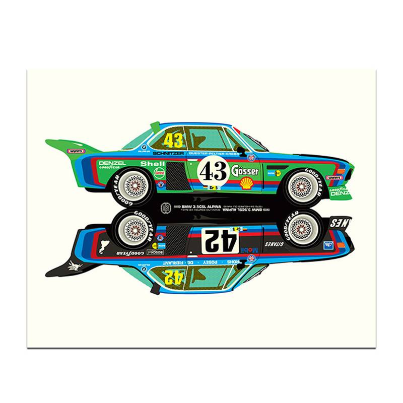 Product image for Rivals | BMW 3.5CSL - Le Mans - 1976 | Studio Bilbey | Limited Edition print
