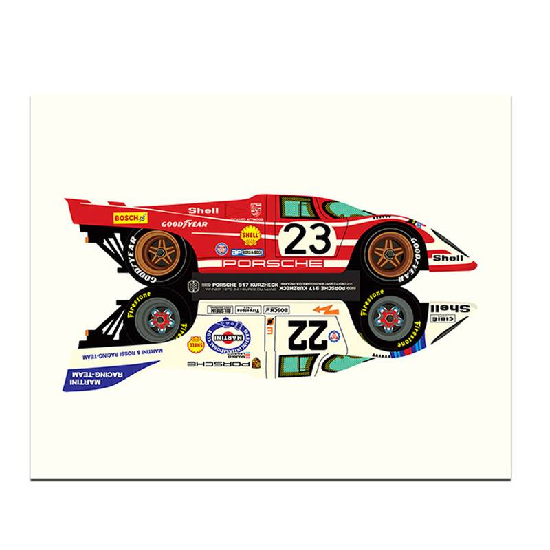 Product image for Le Mans Winners | Porsche 917 - 1970 & 1971 | Studio Bilbey | Limited Edition print