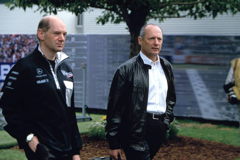 Adrian Newey with Ron Dennis in 2004