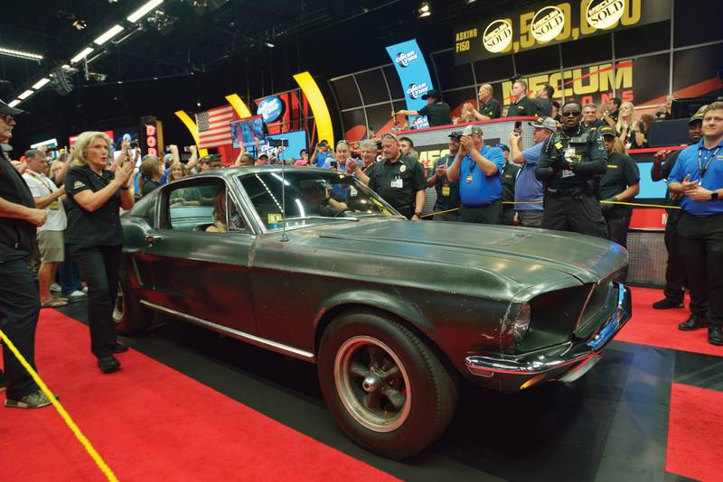 Bullitt Mustang at auction
