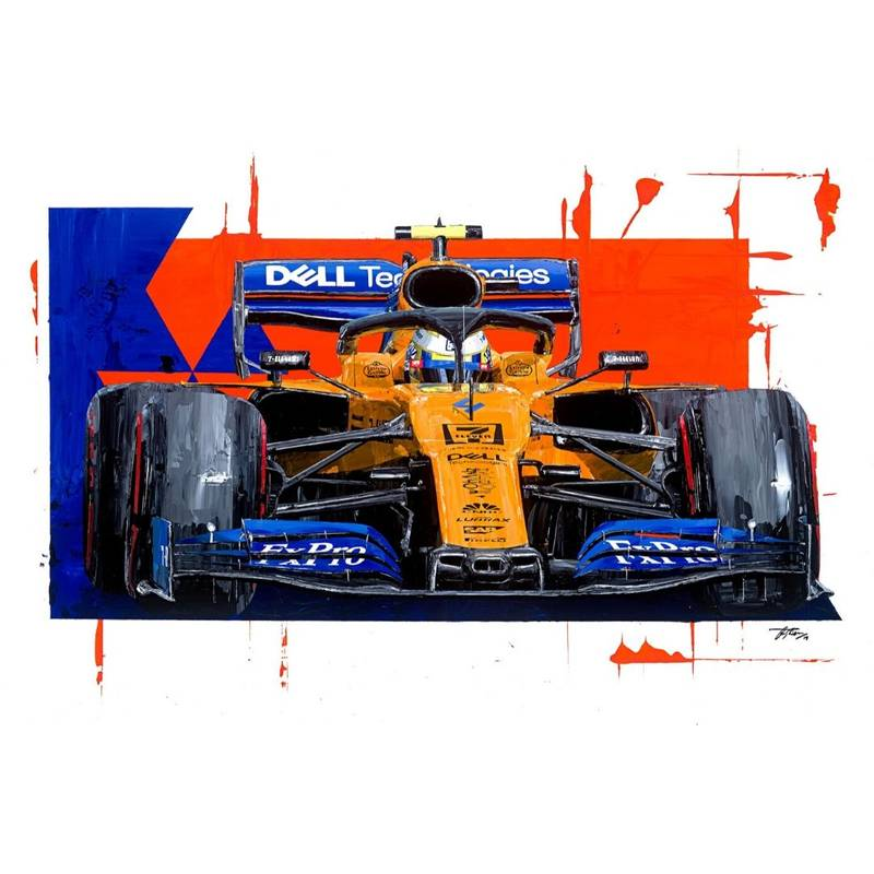 Product image for Lando Norris - McLaren - 2019 | David Johnson | Limited Edition print