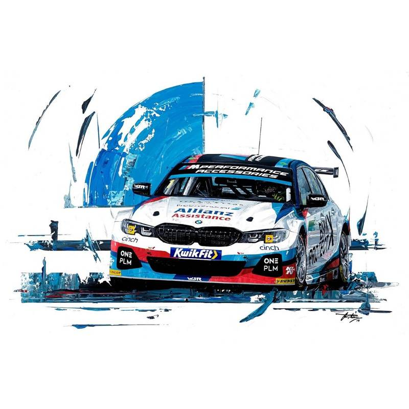 Product image for Colin Turkington - BMW - 2019 | David Johnson | Limited Edition print