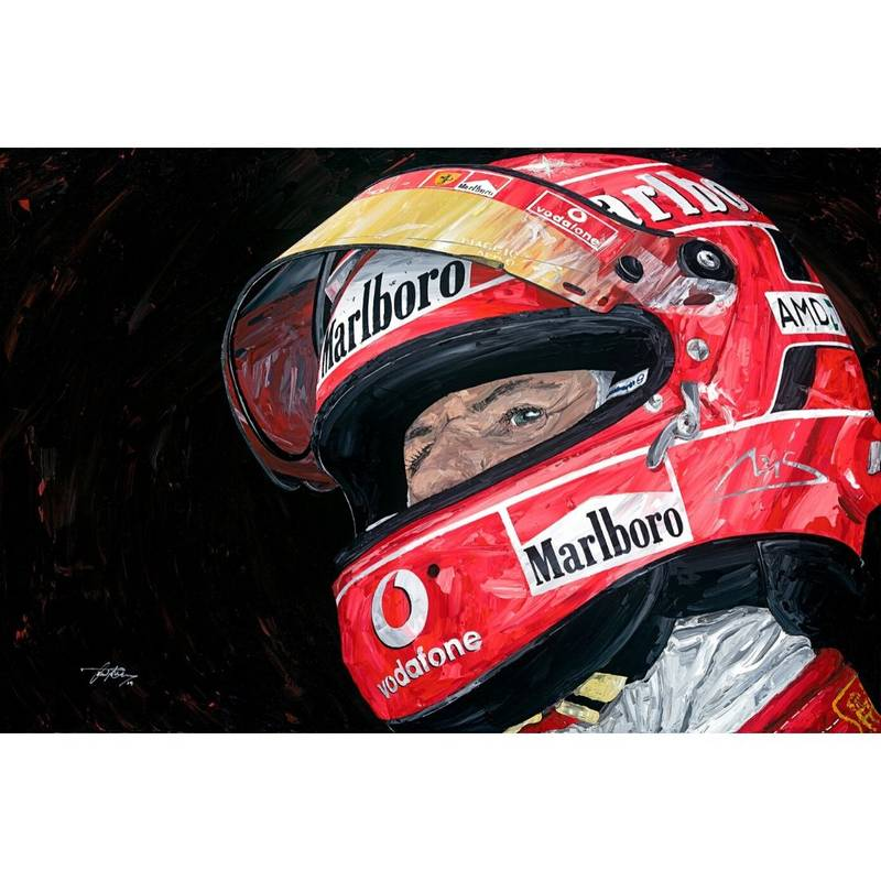 Product image for Michael Schumacher – Ferrari – 2005 | David Johnson | Limited Edition print