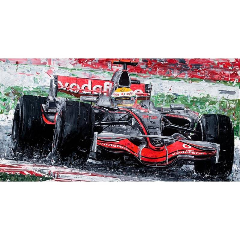 Product image for Lewis Hamilton - McLaren - 2008 | David Johnson | Limited Edition print