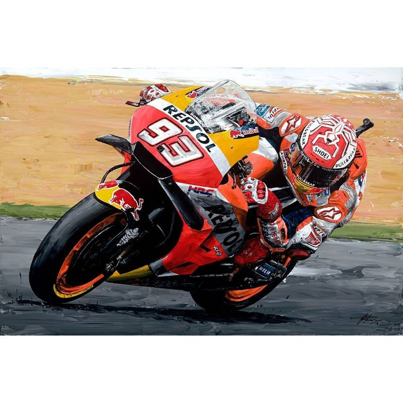 Product image for Marc Marquez - Honda - 2018 | David Johnson | Limited Edition print