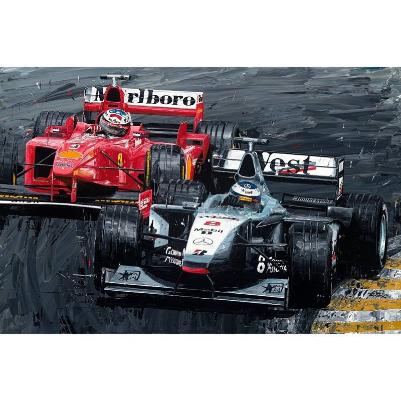 Product image for Mika Hakkinen & Michael Schumacher - 1998 | David Johnson | Limited Edition print