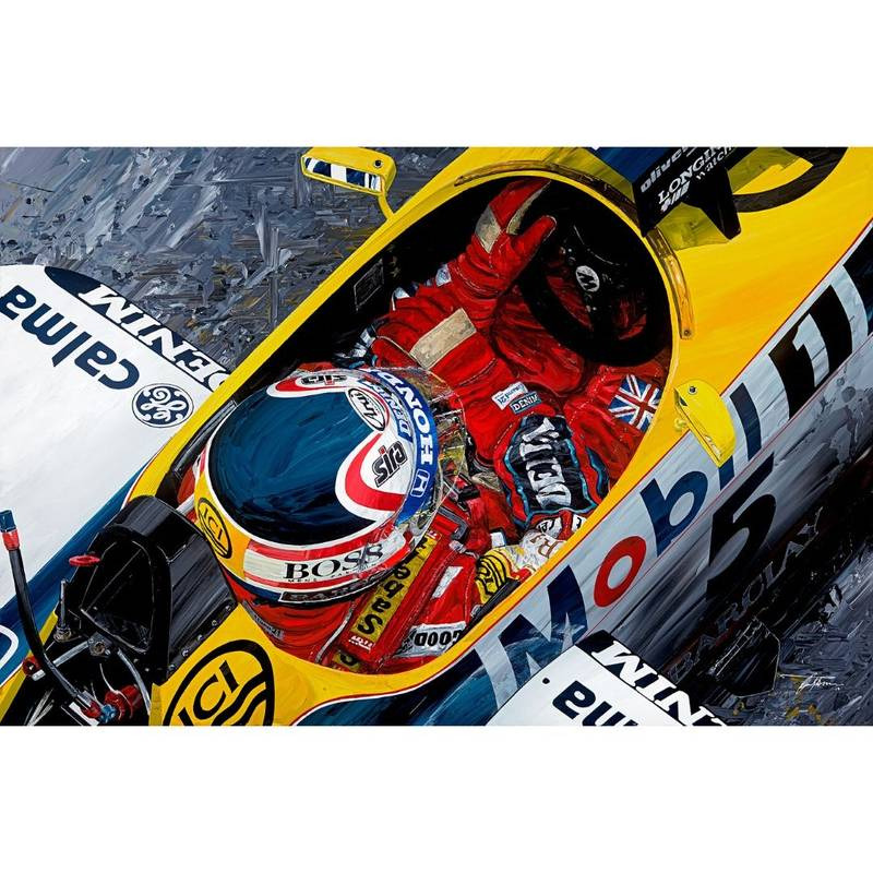 Product image for Nigel Mansell - Williams - 1987 | David Johnson | Limited Edition print
