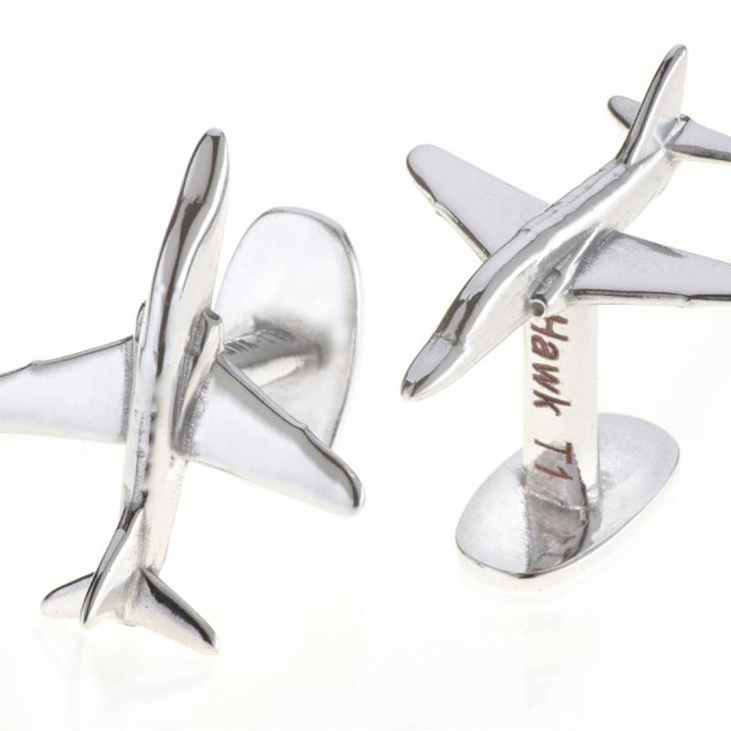 Product image for Red Arrows T1 Hawk | Reclaimed Aluminium | Cufflinks