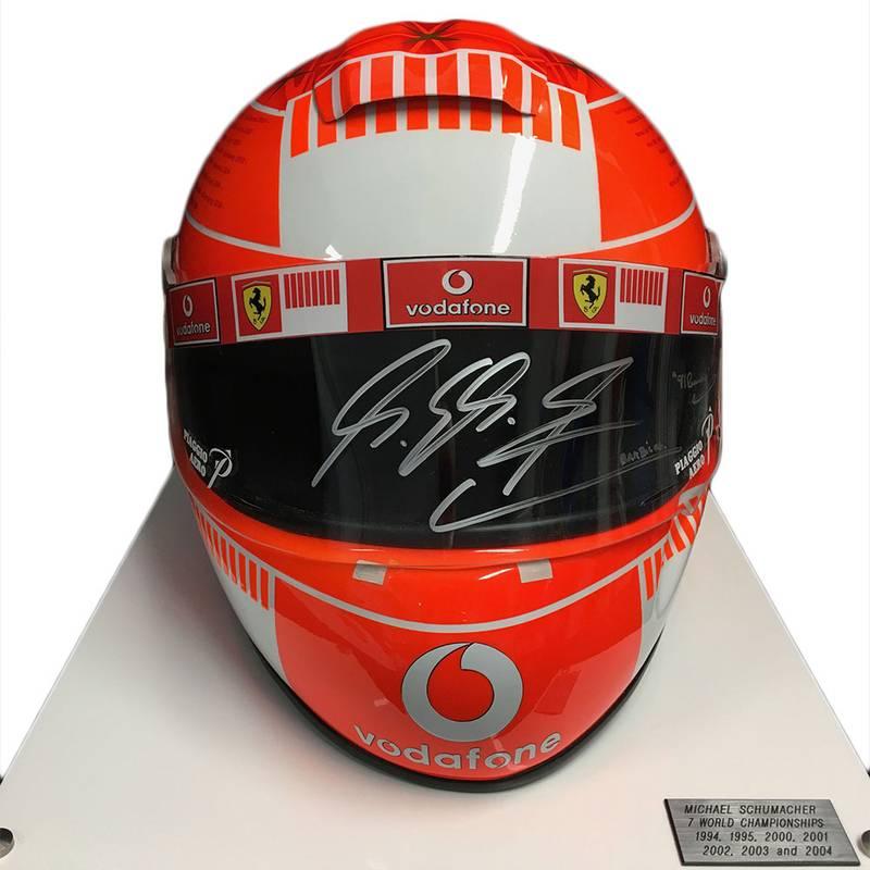 Product image for Full-size Ferrari helmet, signed Michael Schumacher