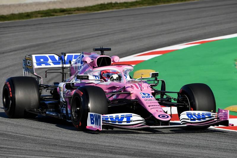 2020 F1 Barcelona pre-season test Day 1 Racing Point