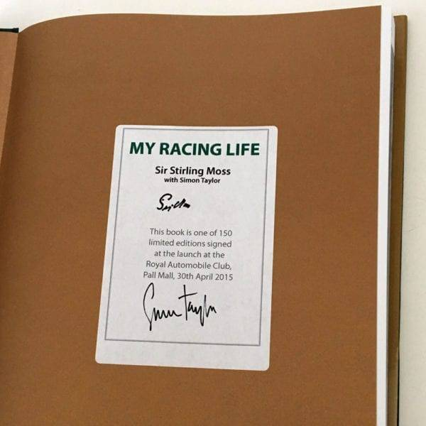 Stirling moss signed cover