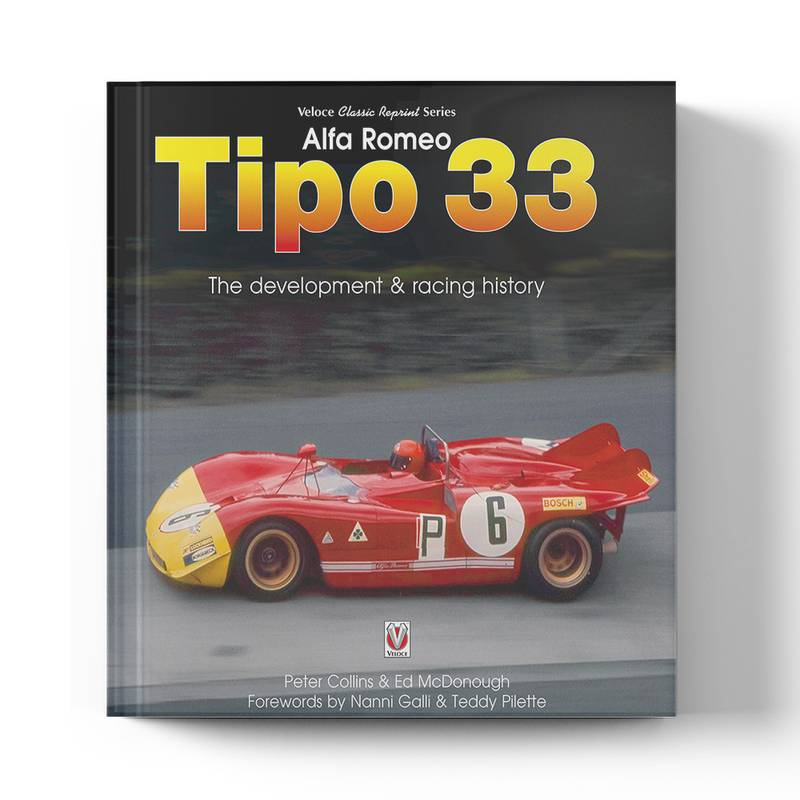 Product image for Alfa Romeo Tipo 33: The Development and Racing History   Peter Collins & Ed McDonough   Book   Hardback