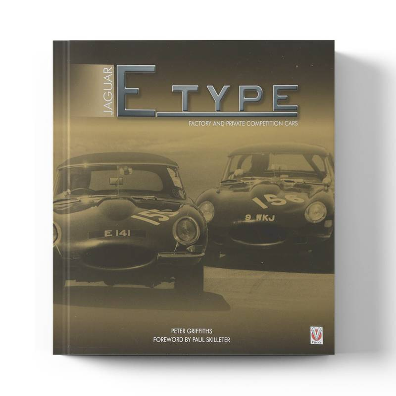 Product image for Jaguar E-type: Factory & Private Competition Cars | Peter Griffiths | Book | Hardback