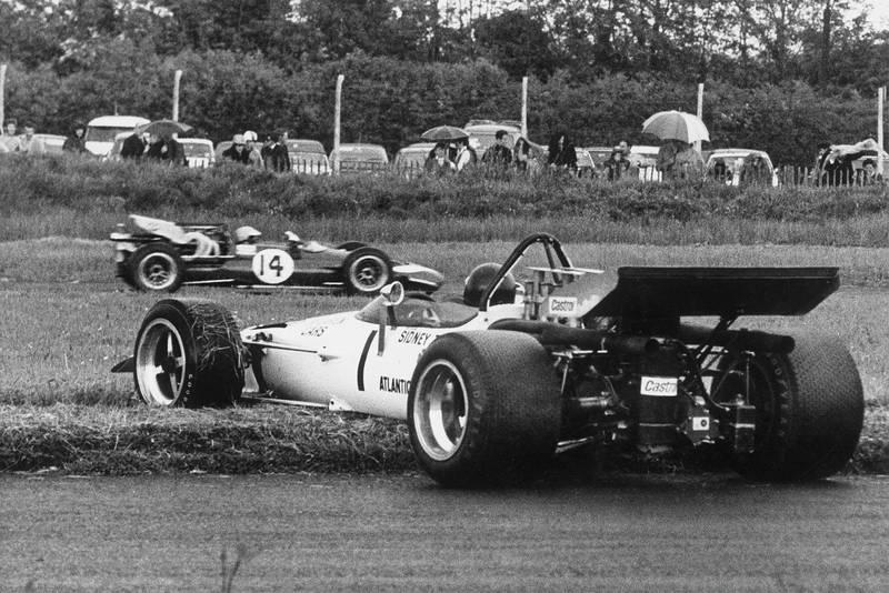 Peter Gethin spins McLaren M10 Mondello 1970