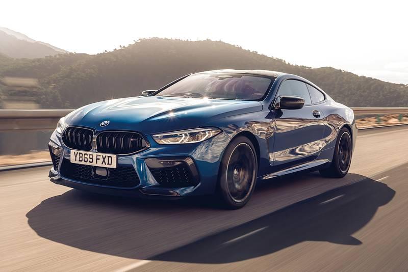 BMW M8 driving