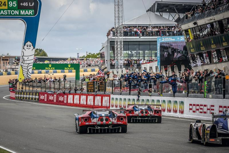 Ford GT Le mans win finish