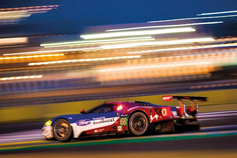 Ford GT Le mans win night