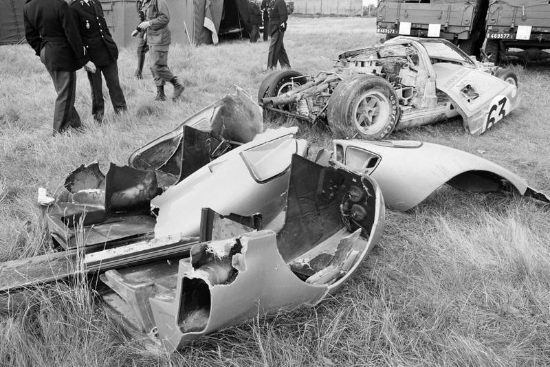 Scuderia Bear Ford GT40 wreck crash
