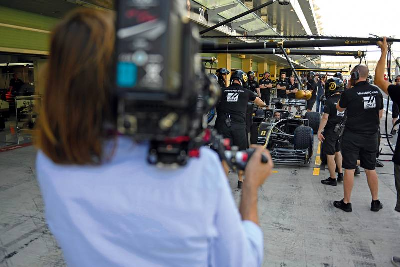 Drive to survive Haas pitstop