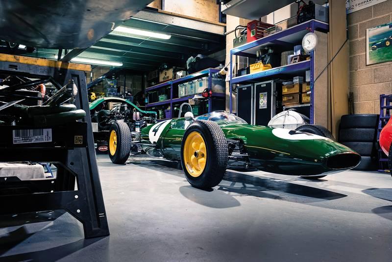 Lotus 22 in garage