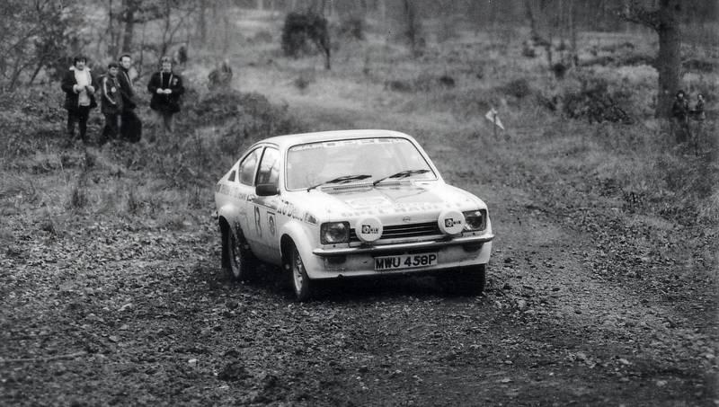Opel Kadett on Forest of Dean Rally