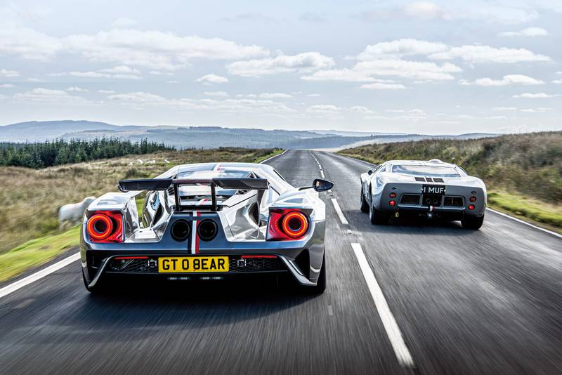 Ford Gts driving rear