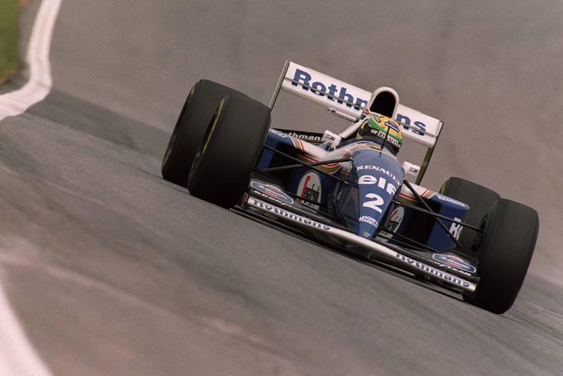 Ayrton Senna in a Williams renault at the 1994 Brazilian Grand Prix