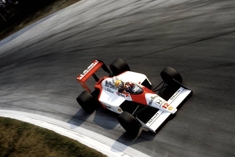 Ayrton Senna in the McLaren Honda at the 1988 Italian Grand Prix