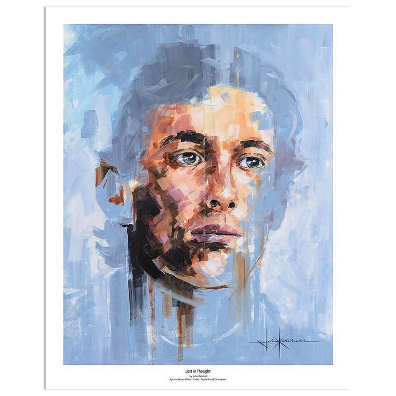 Product image for Ayrton Senna: Lost in Thought | John Ketchell | Limited Edition art print