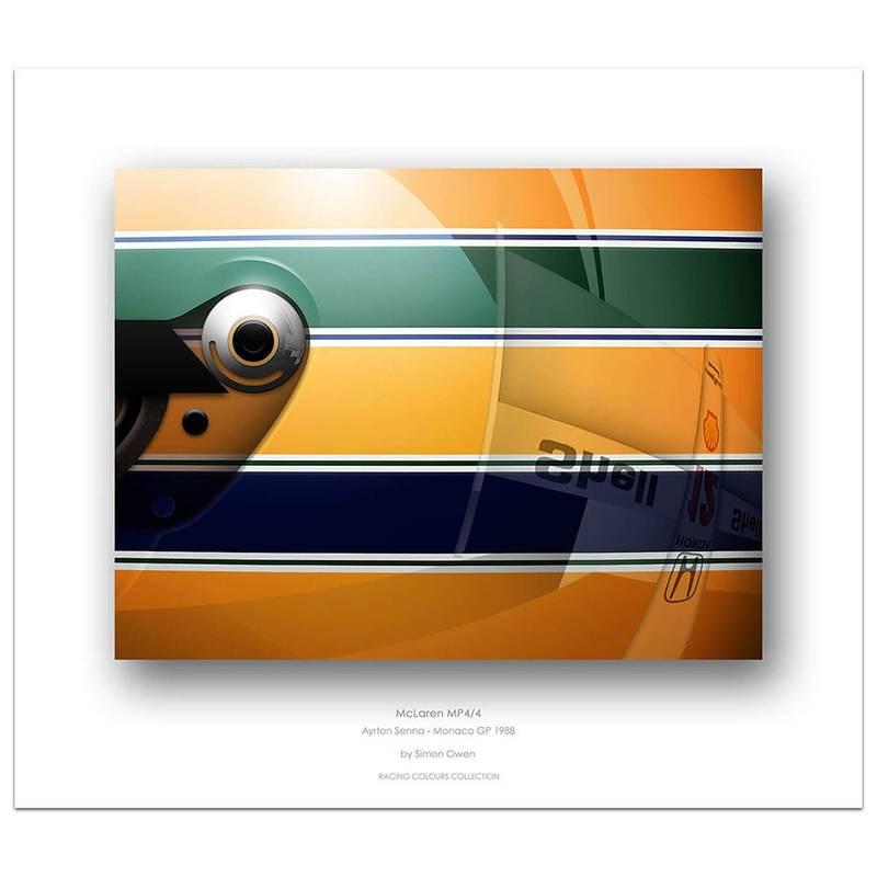 Product image for Ayrton Senna - McLaren - 1988 | Simon Owen | Limited Edition print