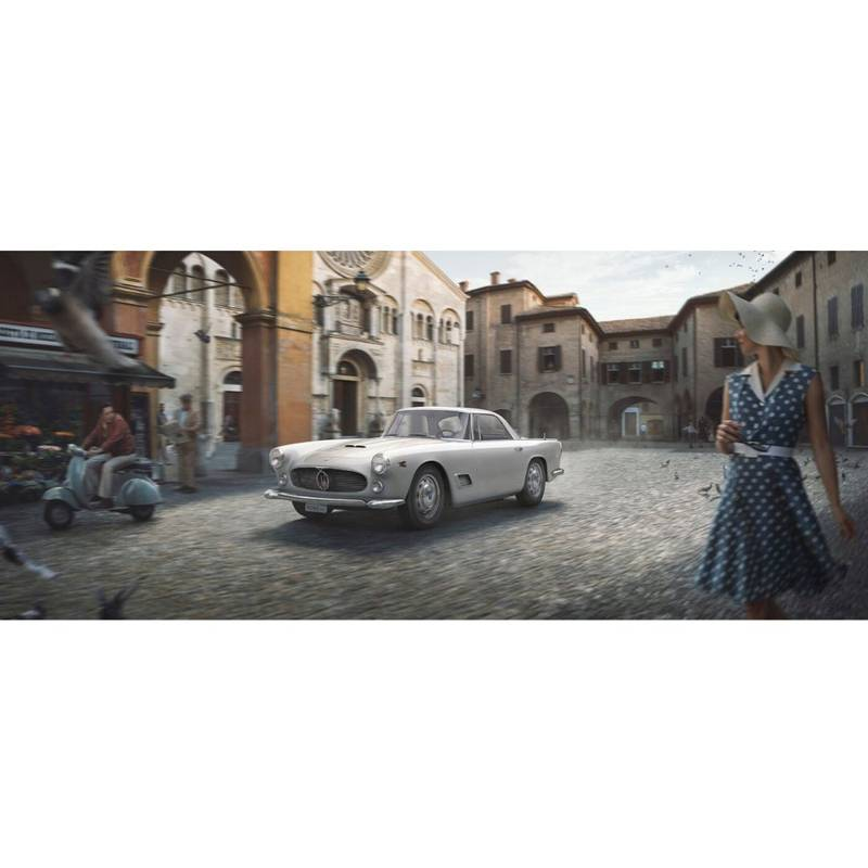 Product image for The White Dame | Maserati 3500GT - 1957 | Automobilist | Limited Edition print