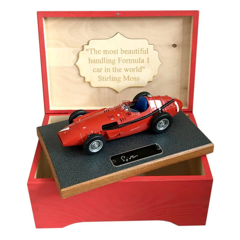 Product image for Stirling Moss – Maserati 250F – 1956 | model | signed Stirling Moss | 1:18 scale