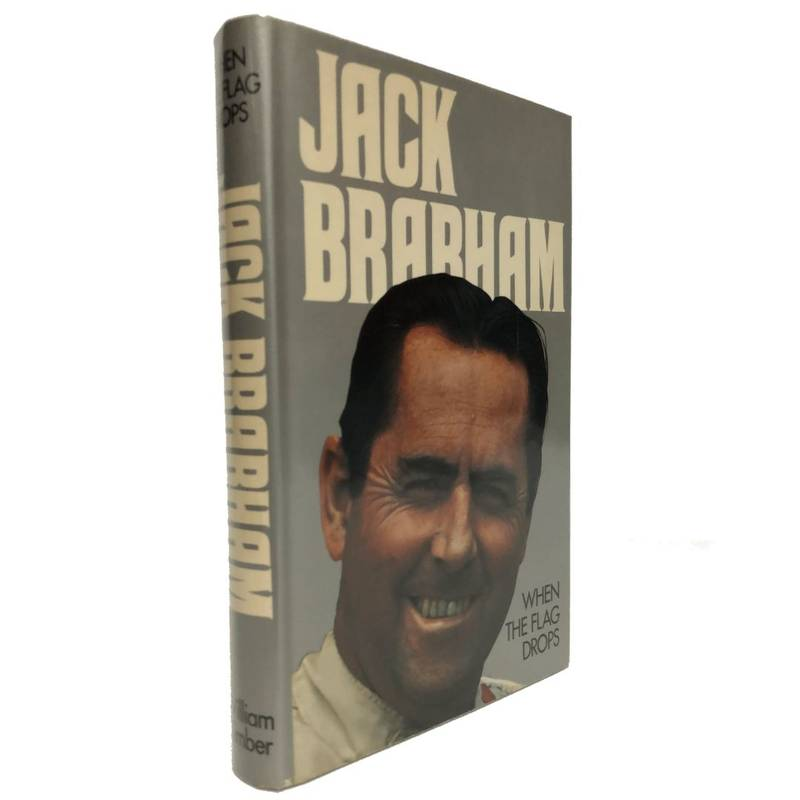 Product image for Jack Brabham   When the Flag Drops   Signed by Jack Brabham