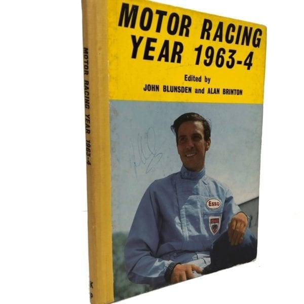 Motor Racing Year 1963-64 book Signed by Jim Clark